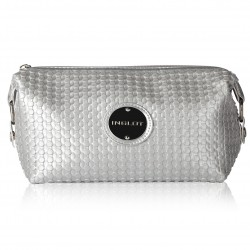 SILBERNE MAKE-UP TASCHE