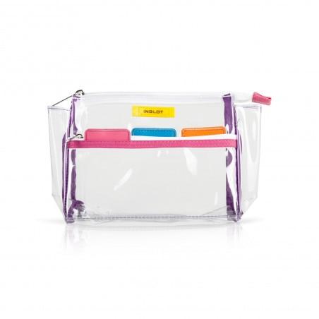 Transparente Kosmetiktasche Farbig
