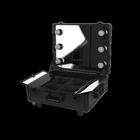 Makeup Koffer mit Rollen Schwarz (KC-58ML)