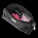 MAKEUP PENCIL CASE SNAKE SKIN PATTERN BLACK (R23984B)