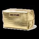 Kosmetiktasche mit Krokodilleder Muster Gold (R24245B)